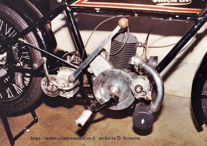 moteur Lutétia 2T, 250 ccm. Austral type PC, 1928. Photo 1994.
