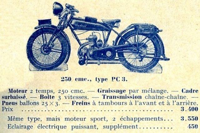 moto Austral type PC3 250 cm3, 1929