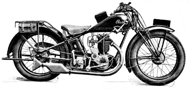 """moto Austral type V 3 4 350 cm3 à moteur Zurcher """"boule"""" culbuté, 1929"""