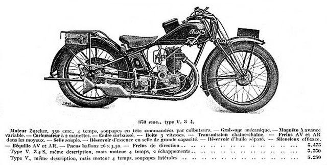 prospectus / catalogue Austral, moto type V à moteur Zurcher culbuté