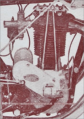 moteur Voisin 350 culbuté, photo issue d'un catalogue DFR 1927