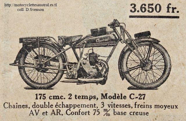 Austral moto type C27 175 cm3, 1927