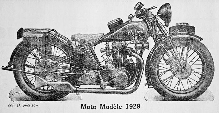 motocyclette Austral type GS avec équipement électrique
