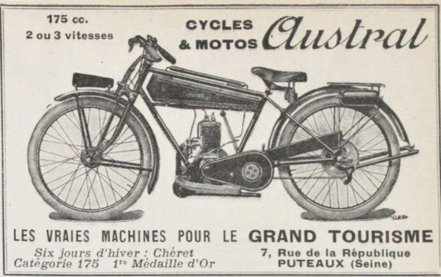 1926 Austral moto légère type GT26