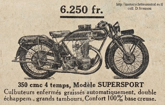 motocyclette Austral type Supersport 350 cm3, 1928