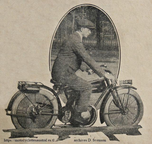 motocyclette Austral Confort, 1926, 2 échappements
