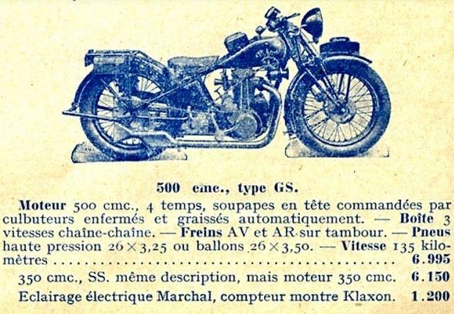 motocyclette Austral type GS 500 cm3, 1929