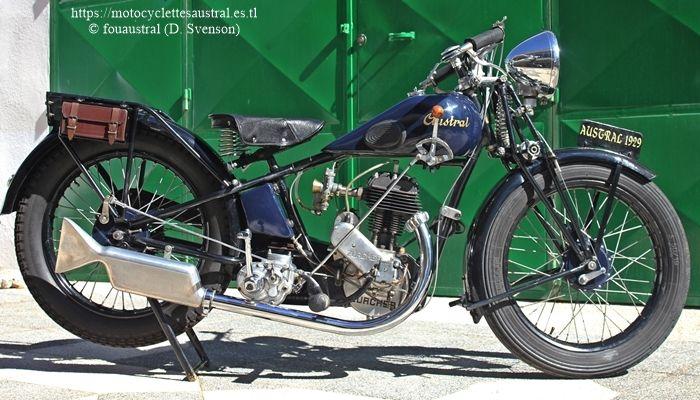 Austral moto type V moteur Zürcher 350 cm3 1929 propriété de l'auteur