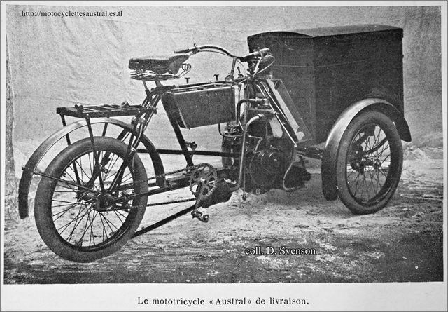 Austral, tricar de livraison, type A 1904 / 1905