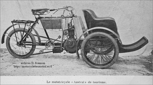 tricar Austral de tourisme type A 1904 / 1905