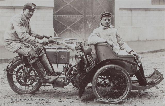 Guitard sur son tricar de compétition en 1906