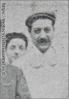portrait d'Albert Jean. Derrière lui son fils Henri-Victor