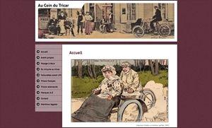 "Vignette, screenshot du site web ""Lestricars.es.tl"""