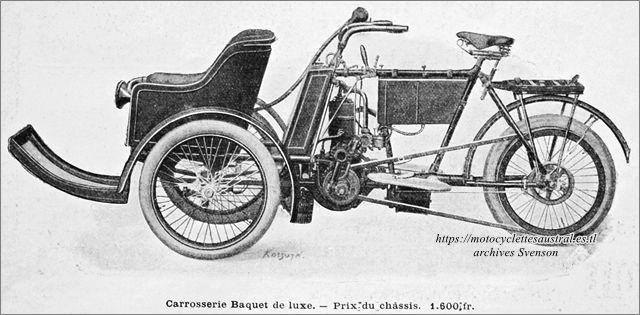tricar Austral type B avec baquet de luxe pour un passager