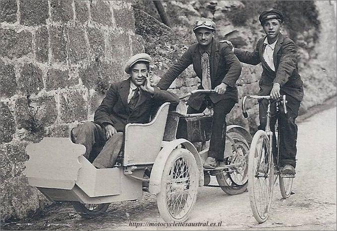 tricar Austral type B2 1906 comme taxi à Nice