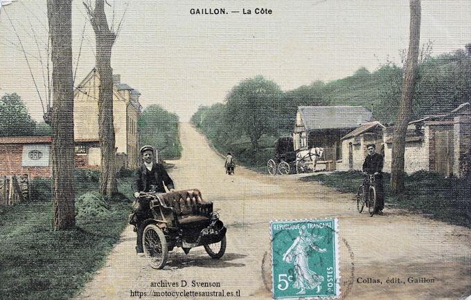 tricar Austral type B2 , côte Sainte-Barbe à Gaillon