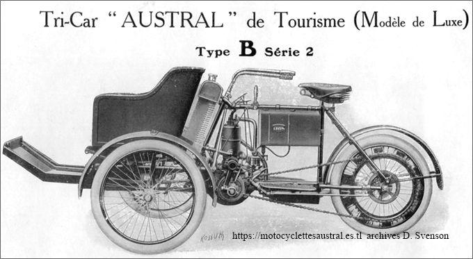 Austral tricar B 2ième série 1906