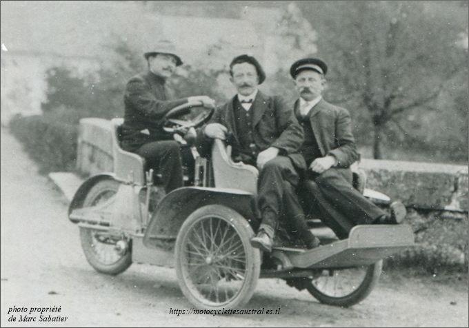 Albert Sabatier sur tricar Austral type G