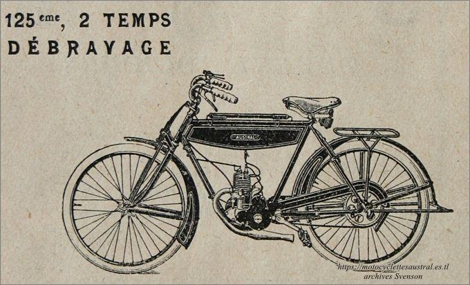 """détail de la publicité """"6 mois de crédit"""". Le vélomoteur Austral type A-24, 1924"""