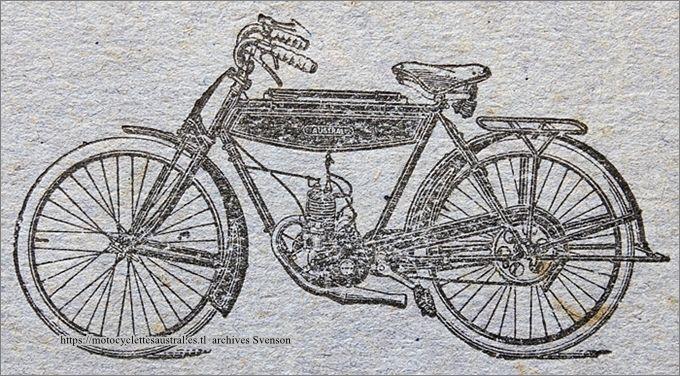 vélomoteur Austral type A24, dessin