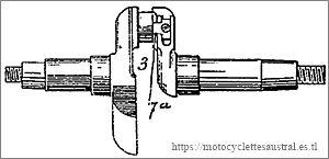 vilebrequin du moteur Lutétia