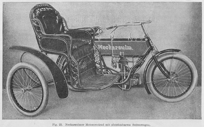 NSU 1905 con sidecar