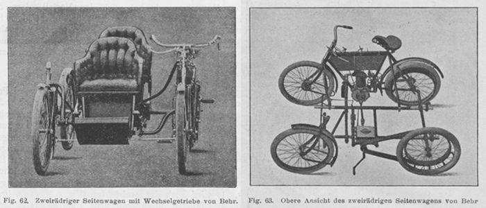 Behr sidecar con dos ruedas