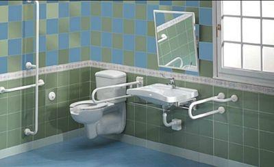 M p objektbau gmbh behinderten gerechte badausstattung for Badeinrichtung waschbecken