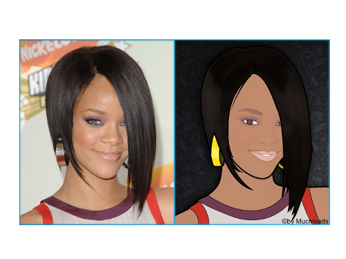 Rihanna - Vektorgrafik