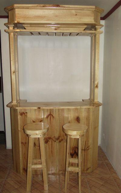 Muebleria calor de hogar bar r stico for Disenos de bares rusticos