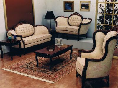 Internacional de classic muebles salas luis xv for Juego de dormitorio luis xv