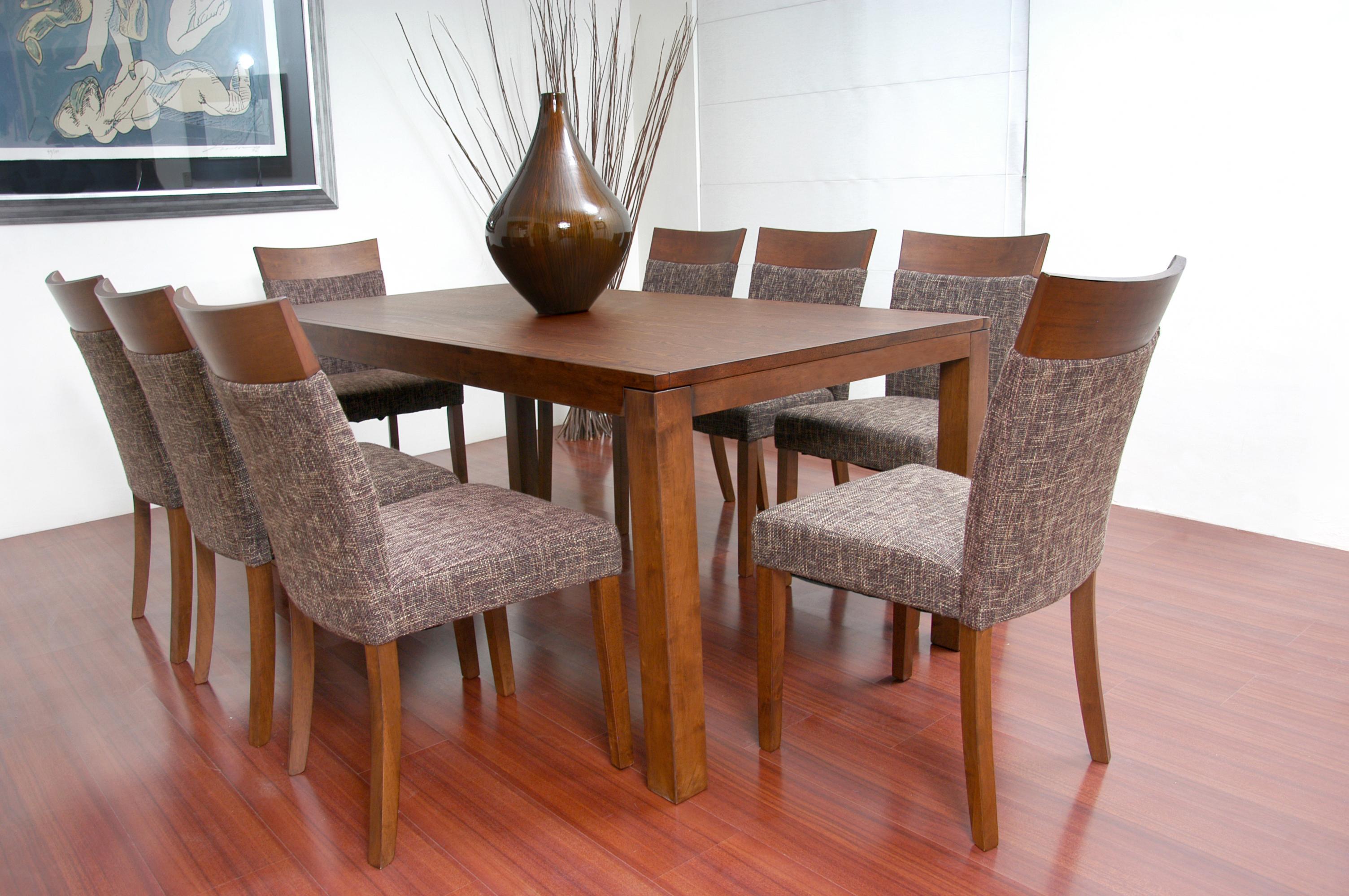 Antecomedor milan for Comedor 8 sillas madera