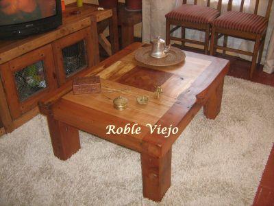 Roble viejo mesas de centro - Mesas de roble ...