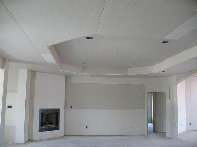 Dise o y division cielo tipo losa for Techos de drywall para cocinas