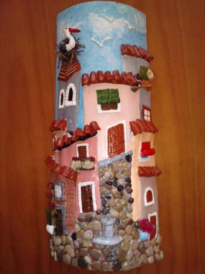 Munecasdegoma tejas decoradas - Pintura para tejas ...