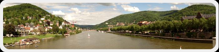 Panoramabild von Heidelberg - Ansicht des Neckars