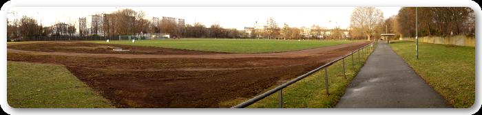 Panoramabild von Ludwigshafen am Rhein - Ansicht vom Sportpark am Südwest-Stadion