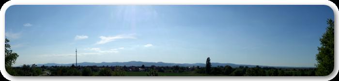 Panoramabild von einer gemütlichen Fahrrad-Tour zwischen Dannstadt-Schauernheim und Meckenheim in Rheinland-Pfalz.