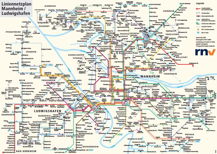 Liniennetzplan der RNV