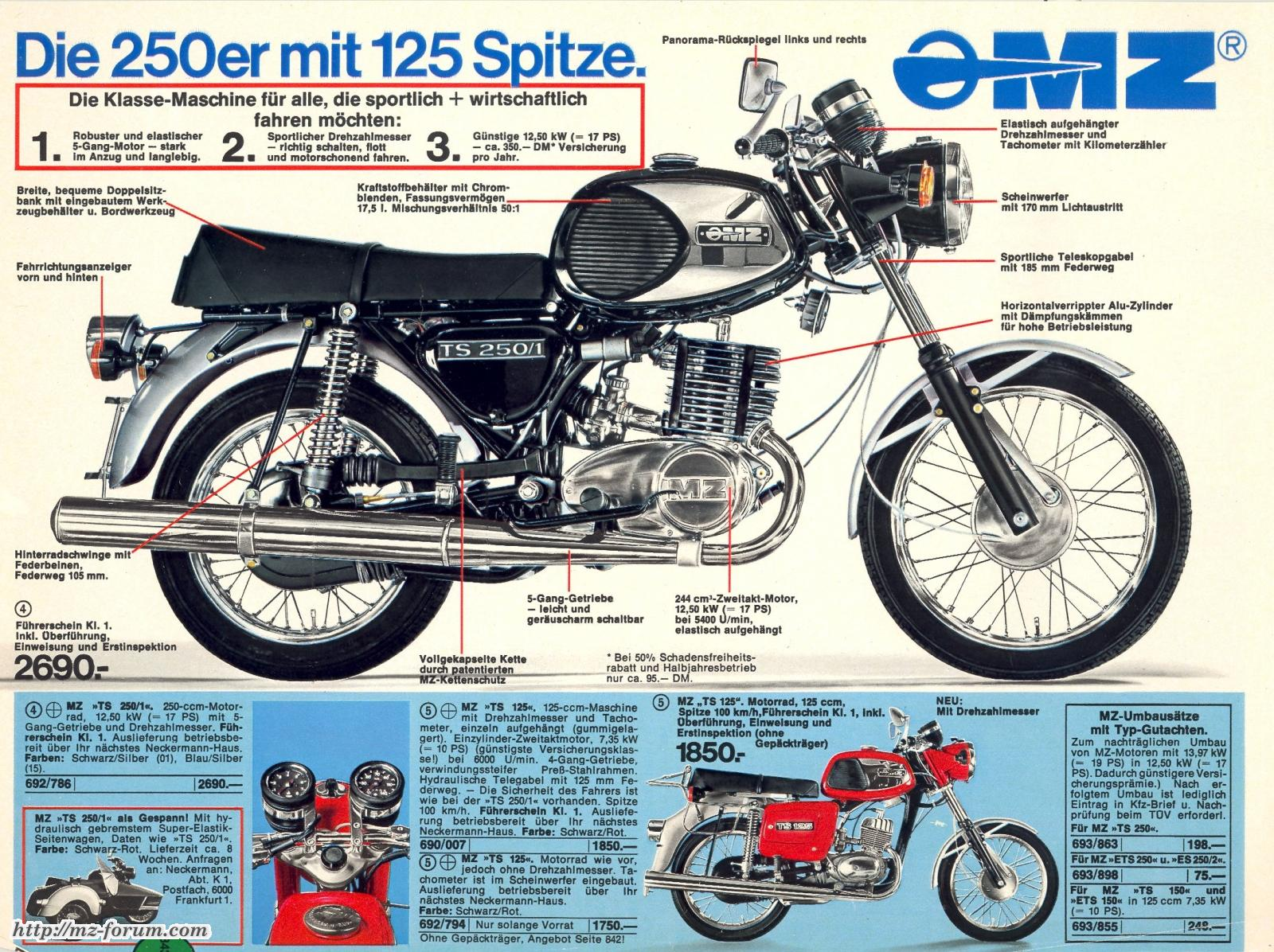 Les couleurs et les modèles MZ Ts2501deluxe