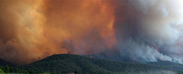 Uno de los numerosos incendios que se produjeron en Australia en los estados de Tasmania y Victoria
