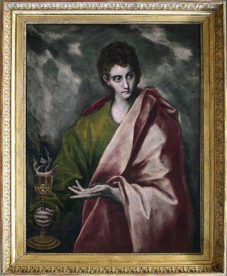 """""""San Juan Evangelista""""  de El Greco"""