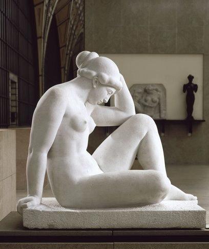 Mediterráneo también llamado El pensamiento del escultor Aristide Maillol. Entre 1923 y 1927 Alt. 110,5  Anch. 117,5   P. 68,5