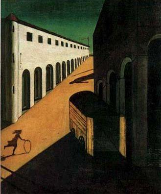 Melancholy and Mystery of a Street      1914              Giorgio De Chirico