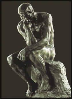 El Pensador del maestro francés Auguste Rodin