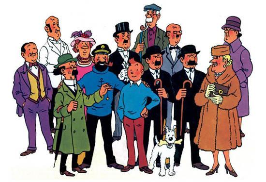 Elenco de personajes creados por Hergé