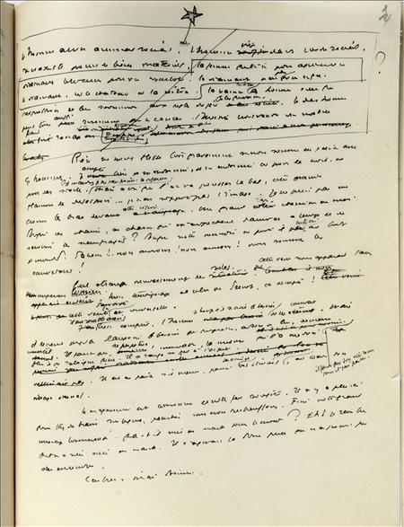Un manuscrito de Antoine de Saint-Exupéry valorado en 300.000 euros se expone, junto a otros recuerdos del célebre autor francés, en la galería Sotheby's de París