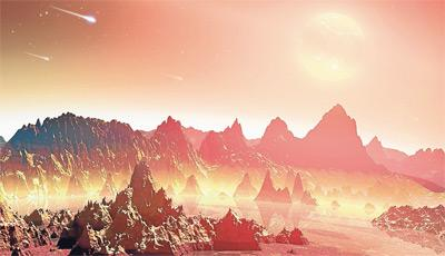 Recreación de un planeta joven similar a la Tierra en condiciones prebióticas