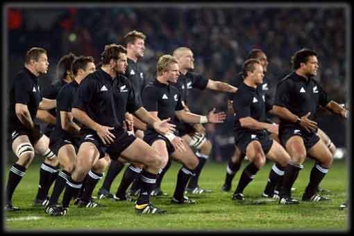 La Haka es una tradicional danza escenificada por los All Blacks antes de comenzar cualquier partido de rugby