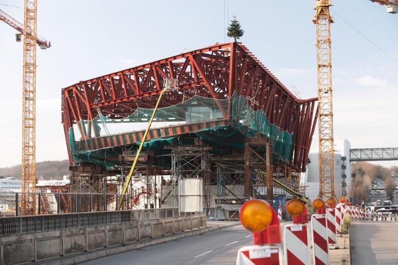 Construcción del Museo Porsche AG en Zuffenhausen